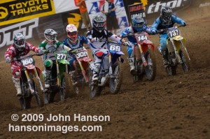 Moto One Start. Three guys from MN and one from ND - #309 Dally, #69 Hibbert, #144 - Martin and #737 Reidman