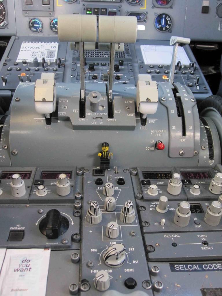 Steve in cockpit