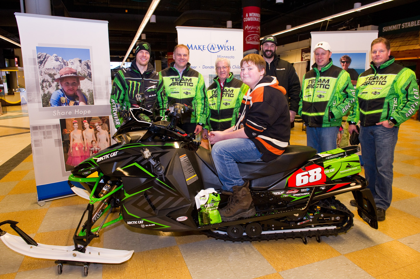 Tucker Hibbert helps fulfill Nick's wish to own a snowmobile!
