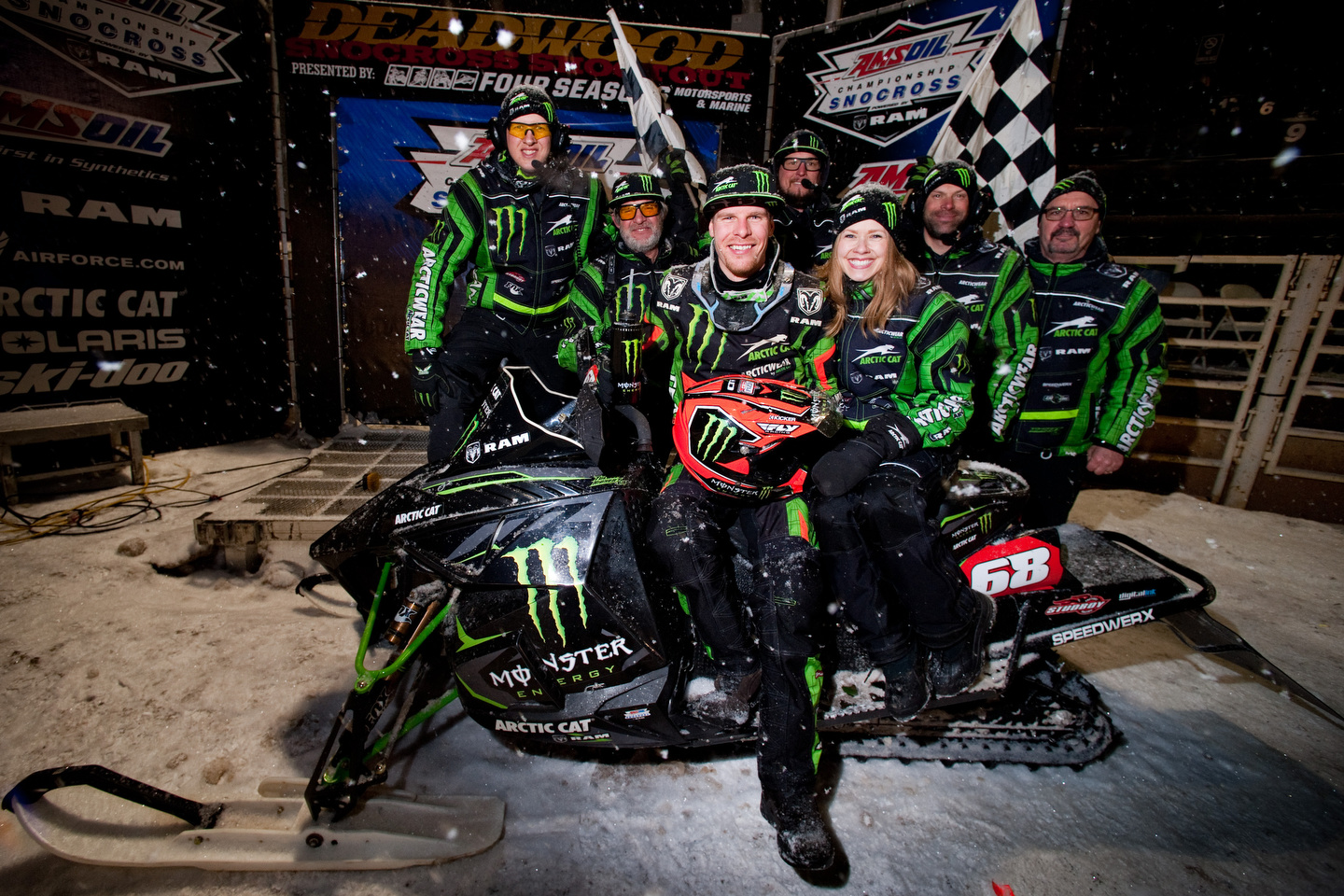 Tucker Hibbert rides to heroic 100th Pro National Snocross victory