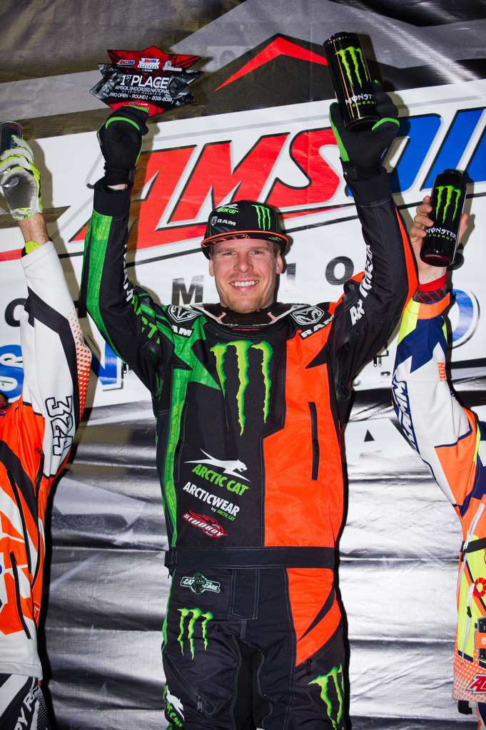 Hibbert secures points lead with a win at Snocross season opener