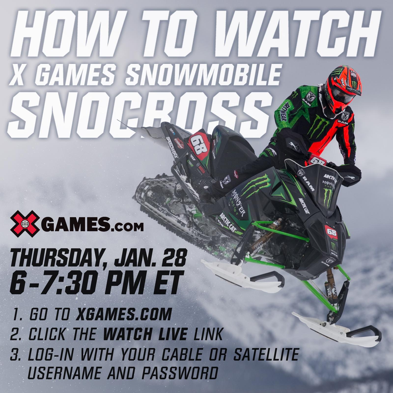 How to watch X Games Aspen Snocross