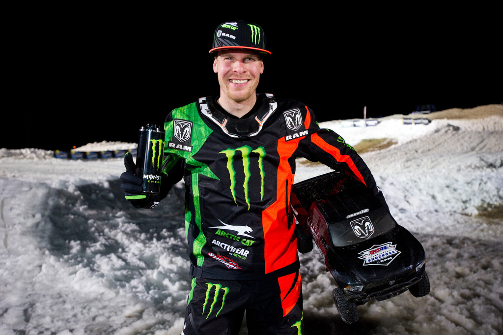 Hibbert takes double wins at Ram Trucks Snocross National in Michigan