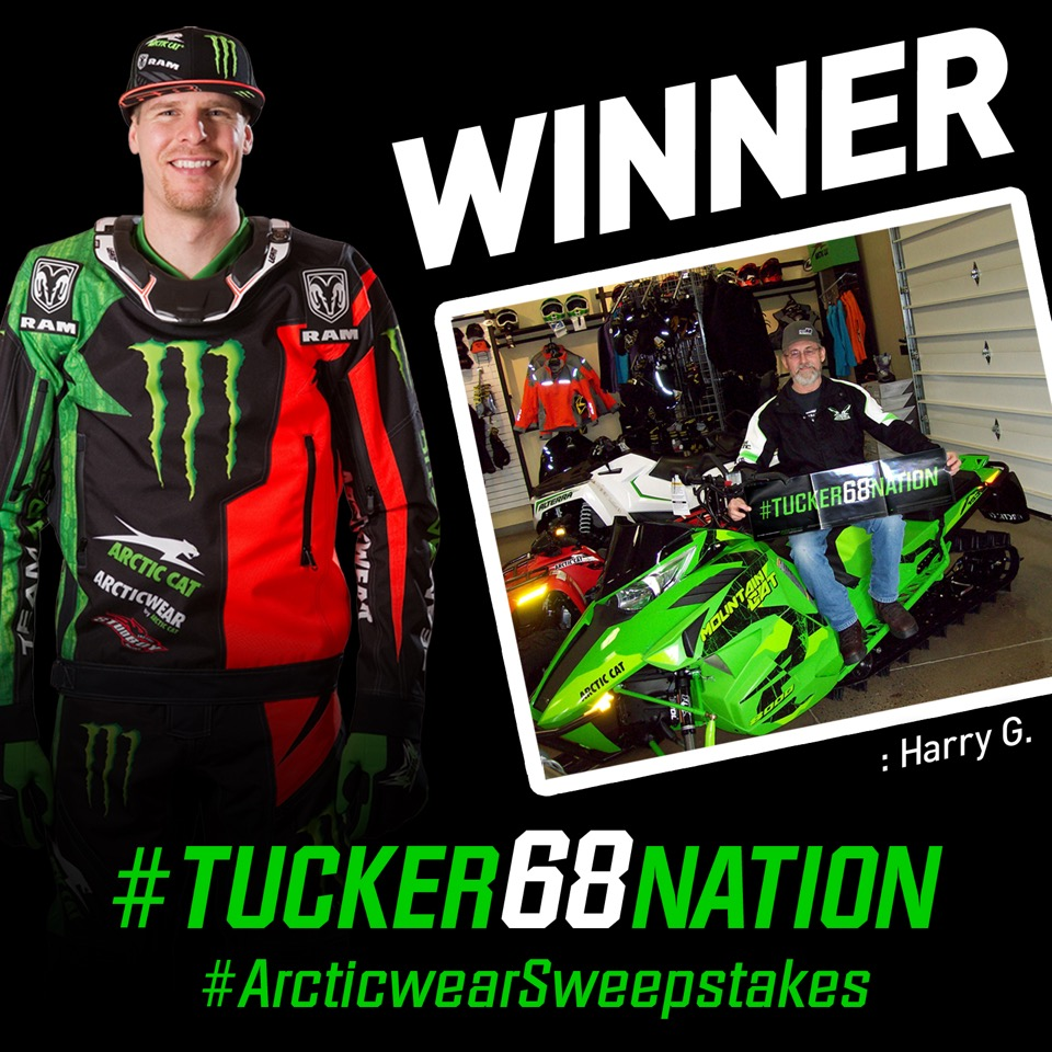 Winner of #Tucker68Nation Arcticwear Sweepstakes announced