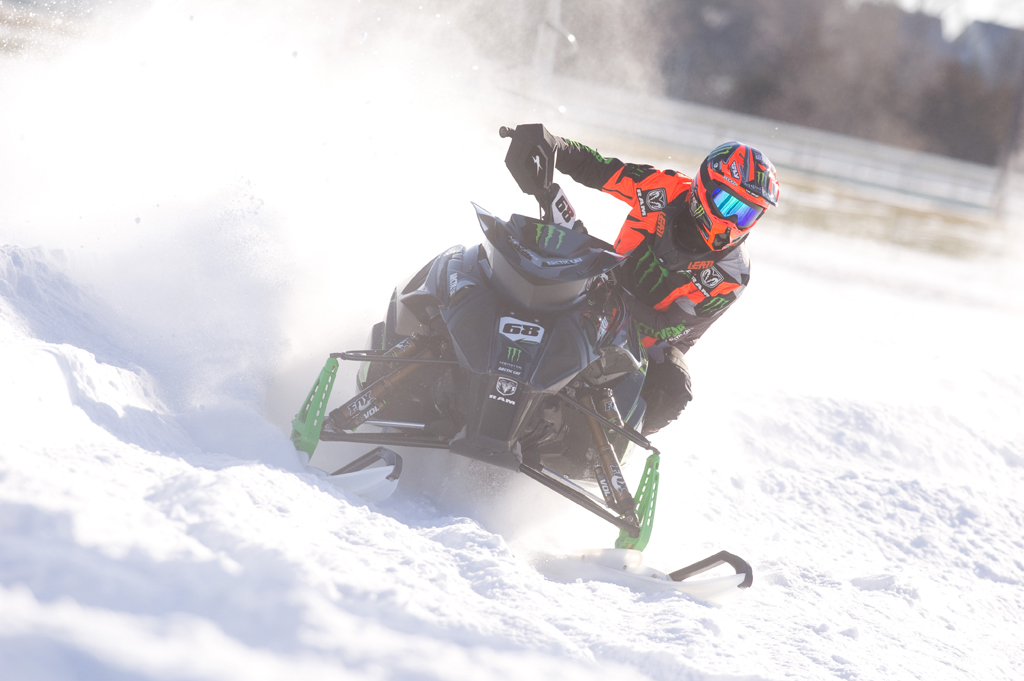 Tucker Hibbert wins Sunday at Canterbury Park Snocross National