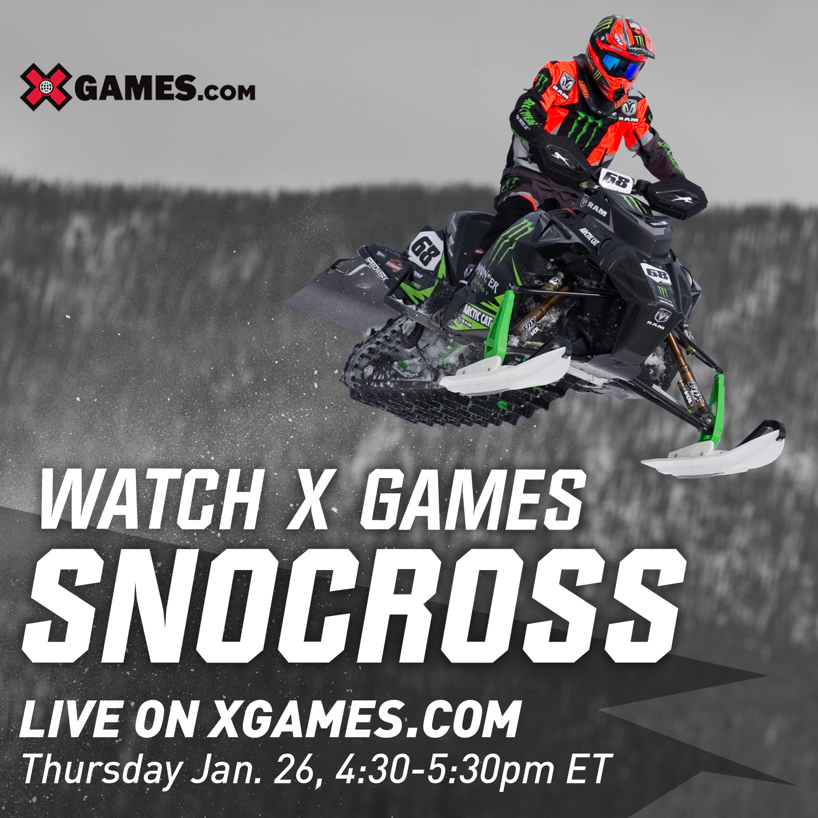 Watch X Games Snocross Live!