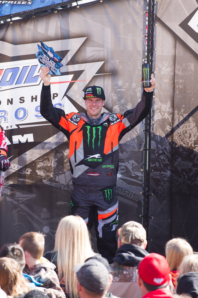 Tucker Hibbert finishes third in 2017 Pro National Snocross Championship